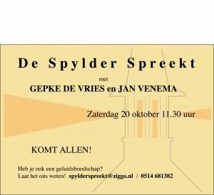 spylderspreekt20-10-'12